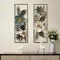Amerikaanse Creatieve 3D Stereo Smeedijzeren Kunstmatige Bloem Muur Opknoping Ornament Decoratie Thuis Woonkamer Achtergrond Muurschilderingen