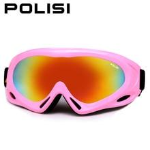 Niños anti-vaho gafas de esquí polisi niños al aire libre uv400 snowmobile gafas niños niñas de esquí de snowboard esqui gafas de protección
