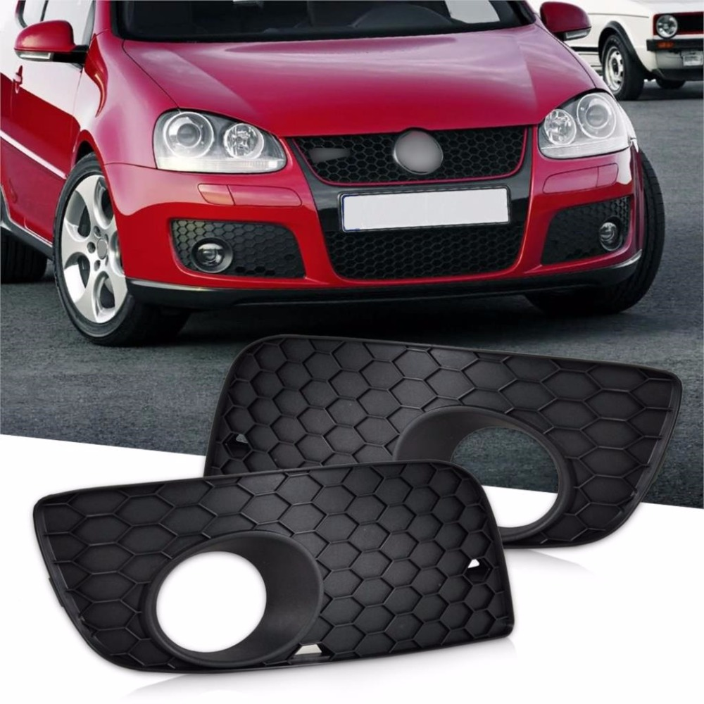 CITALL New Front Left + Right Bumper Fog Light Lamp Grill Grille 1K0853666P 1K0853665S For VW GTI Jetta 2006 2007 2008 2009
