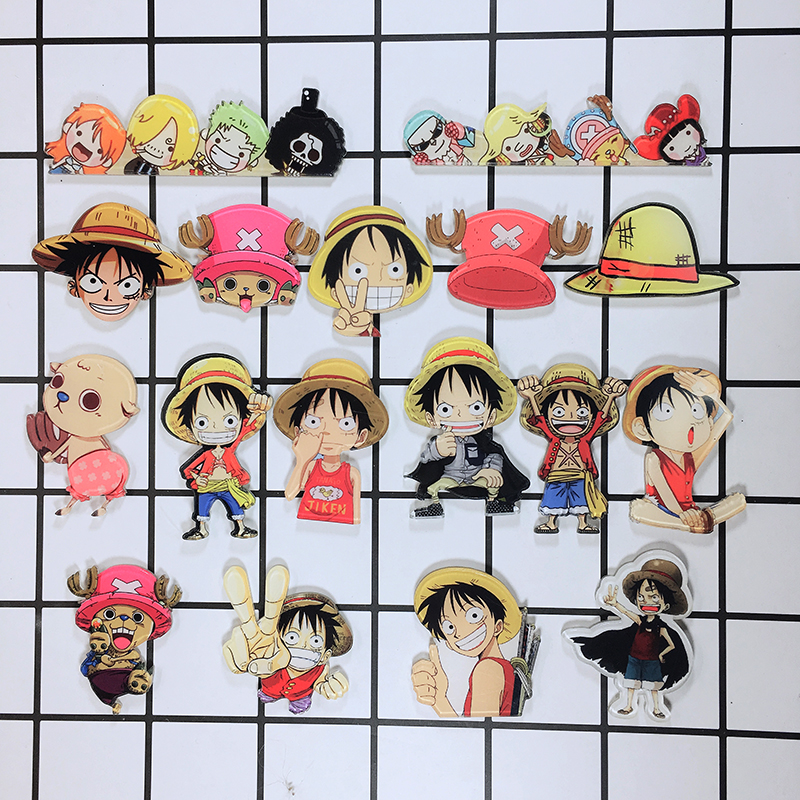 Anime ONE PIECE Tony Chopper Cosplay Acrylic Badges Monkey D. Luffy Brooch Pin Backpack Clothes Cute Decoration Brooches