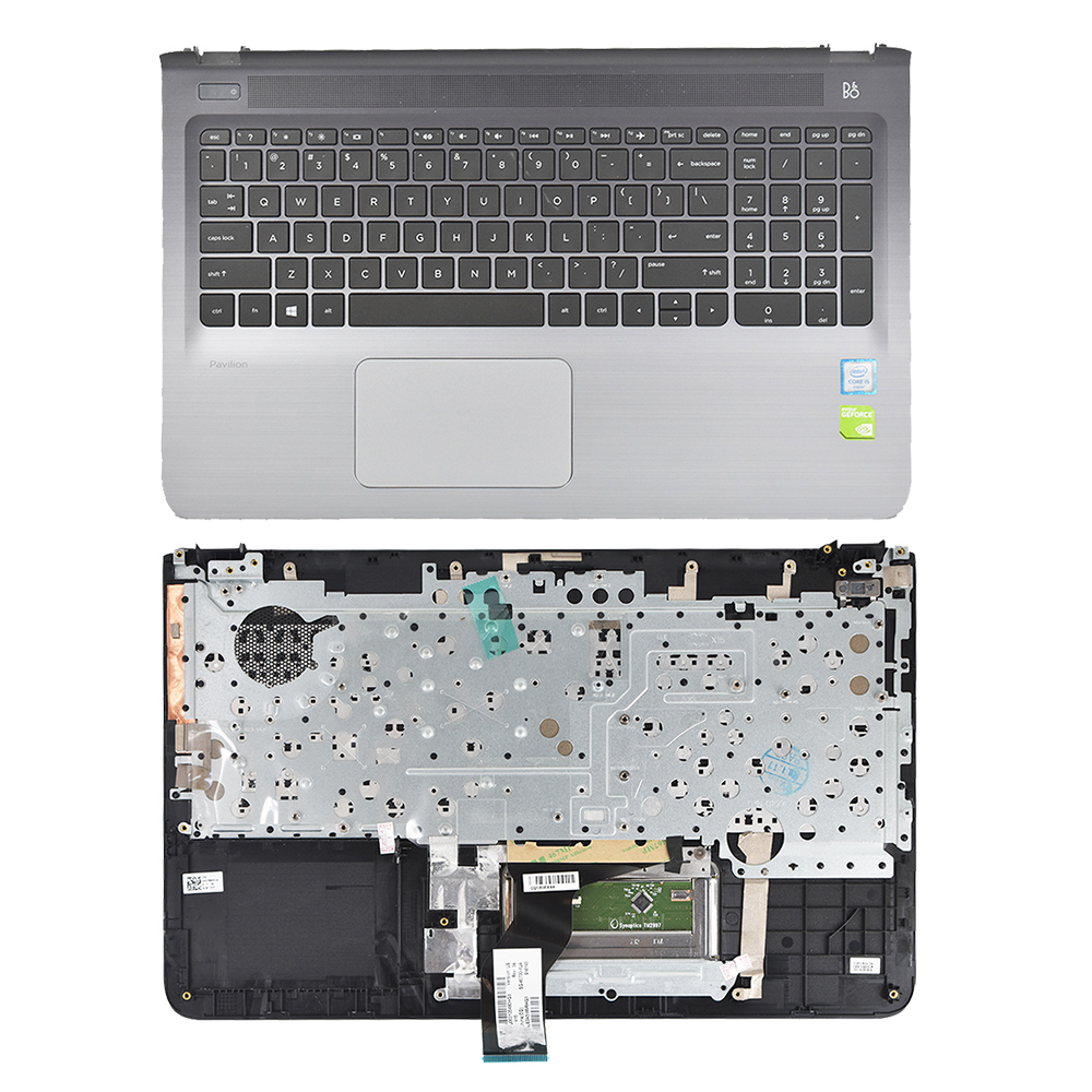 Compatible with 912995-001 Replacement for Hp Palmrest Us Keyboard Dark Ash 15-BL112DX 15-BL012DX 15T-BL100