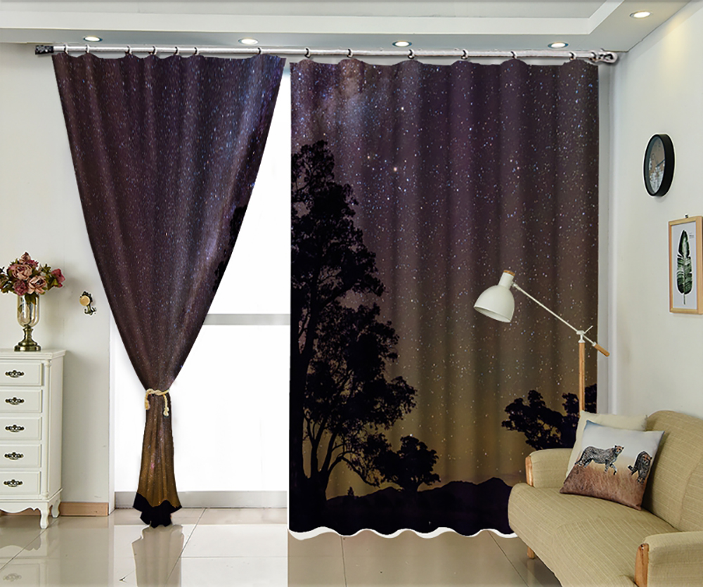 Night Star Personality Sun Shade Curtain