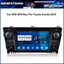 Android 4.4.4 1024*600 Capacitive Screen 1.6G CPU Quad Core 1G RAM Car DVD For Toyota Corolla 2014