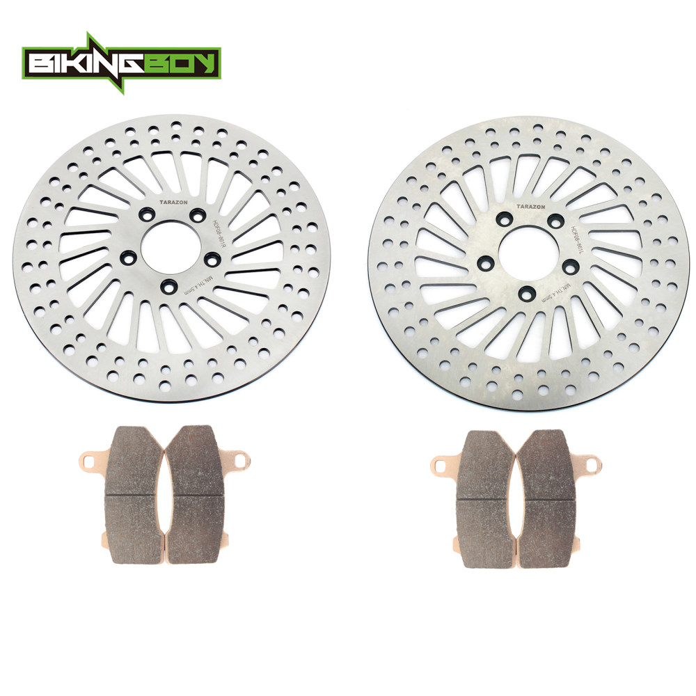 Front Rear Brake Discs Rotors Pads for HARLEY Touring 1584 1690 FLHRC FLHTC FLTRC Road King