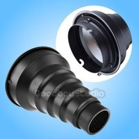 Conical Snoot with Honeycomb Grid for Elinchrom Mount Studio Strobe Flash Light
