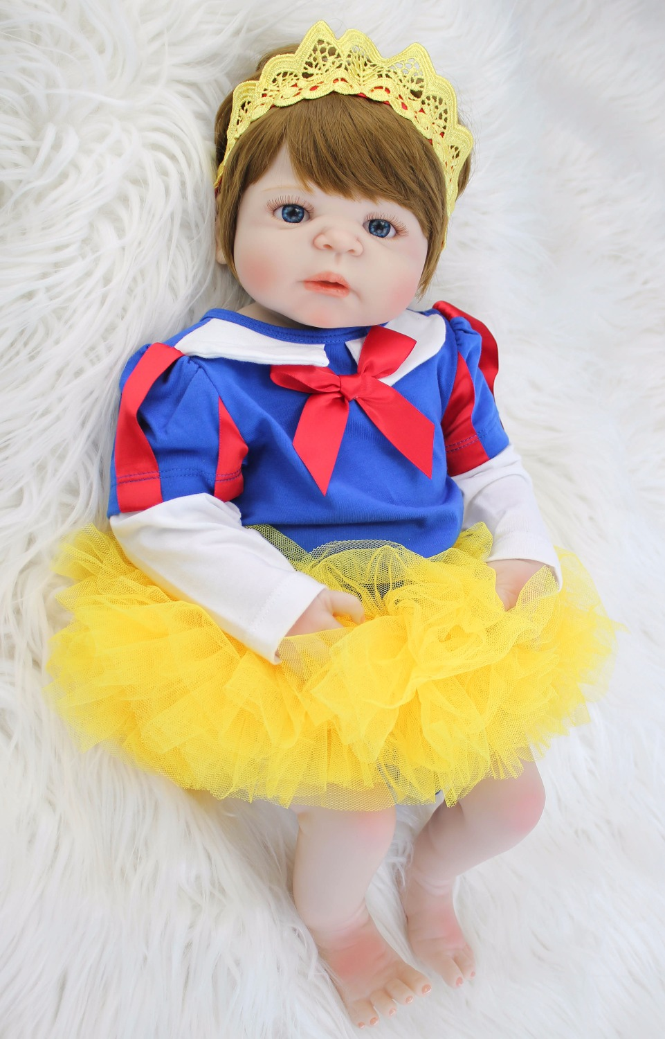 55cm Full Silicone Reborn Baby Doll Toy Realistic Vinyl Newborn Sweet Princess Babies Bebe Fashion Birthday Gift Girls Boneca55cm Full Silicone Reborn Baby Doll Toy Realistic Vinyl Newborn Sweet Princess Babies Bebe Fashion Birthday Gift Girls Boneca