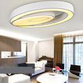 Modern Simple Fashion LED Dimmable Acrylic White Oval Flush Mount Light Living Room Bedroom Study Room Dining Room