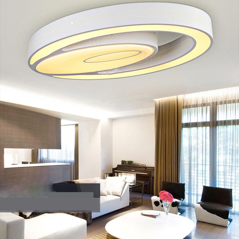 US $120.8 |Moderne Einfache Art Und Weise LED Dimmbare Acryl Weiß Oval  Unterputz Licht Wohnzimmer Schlafzimmer Studie Esszimmer in Moderne  Einfache ...