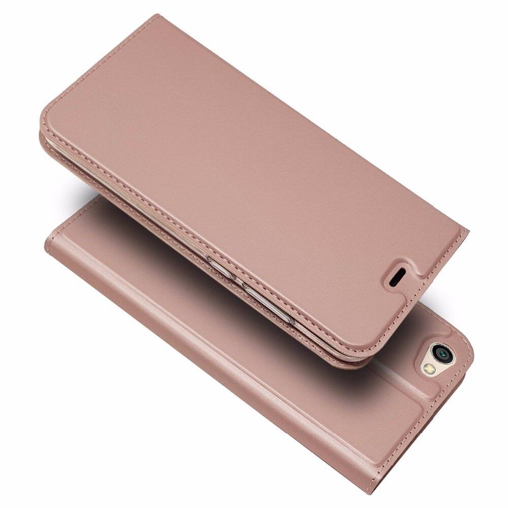Flip Étui En Cuir De Luxe D'affaires Brut Mode Portefeuille Téléphone Cas Couverture Arrière Pour Xiaomi Redmi Note 5A