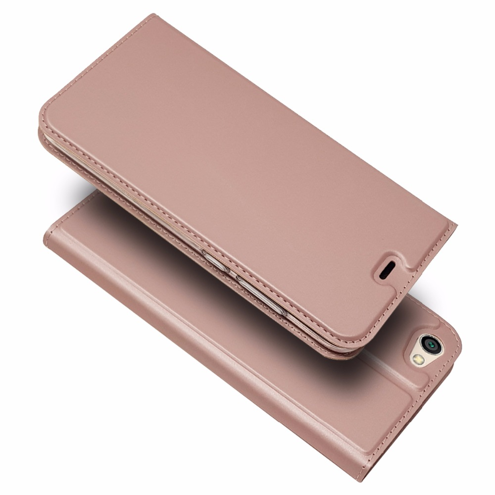 Flip Leather Case Luxury Plain Business Fashion Wallet Phone Case Back Cover For Xiaomi Redmi Note 5A