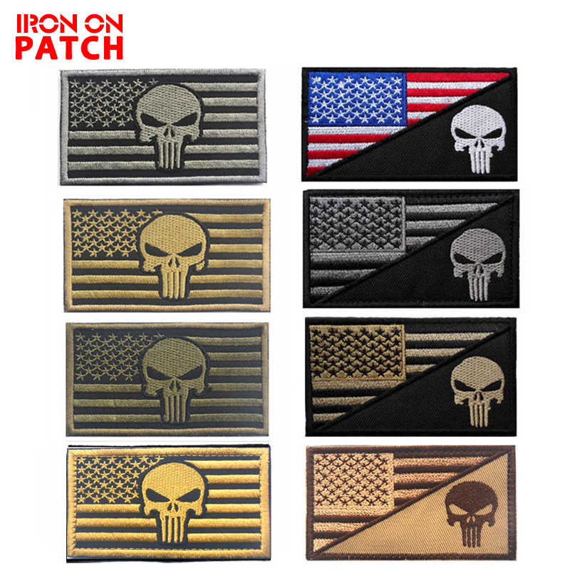 0a8ecb60 3D The United States And Punishing flag Patches Tactical Chastiser Military  DIY Badges For Clothes Hat