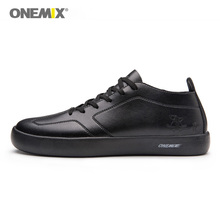 ONEMIX Men Black Casual Shoes Lightweight Skateboarding Sneakers Outdoor Sport Classic Design Trainers