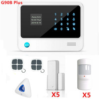Big discount G90B Plus Wifi Alarm System Smart Home Alarm System GPRS GSM WIFI alarm system for Home Security Protection With Ap