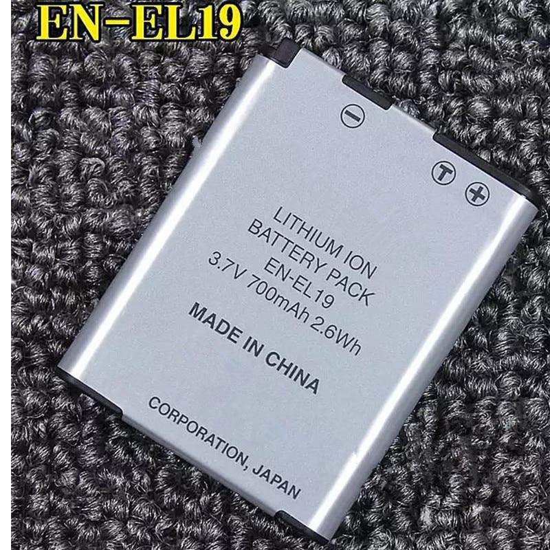 EN-EL19 EL19 Batería para Nikon Coolpix S2600 S2700 S3100 S3500 S4150 S5200 6400