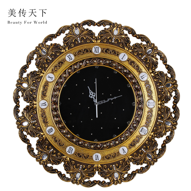 Modern Continental Personality Living Room Wall Clock Decorative Clocks Queen Bedroom Lace Large Pocket Watch Quartz Pasto In From