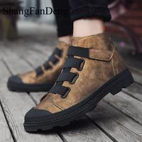 Martin Boots Men Winter Warm Men Ankle Boots Breathable Casual Shoes Fur High Top Shoes Outdoor Botas Homme Rubber Outsole