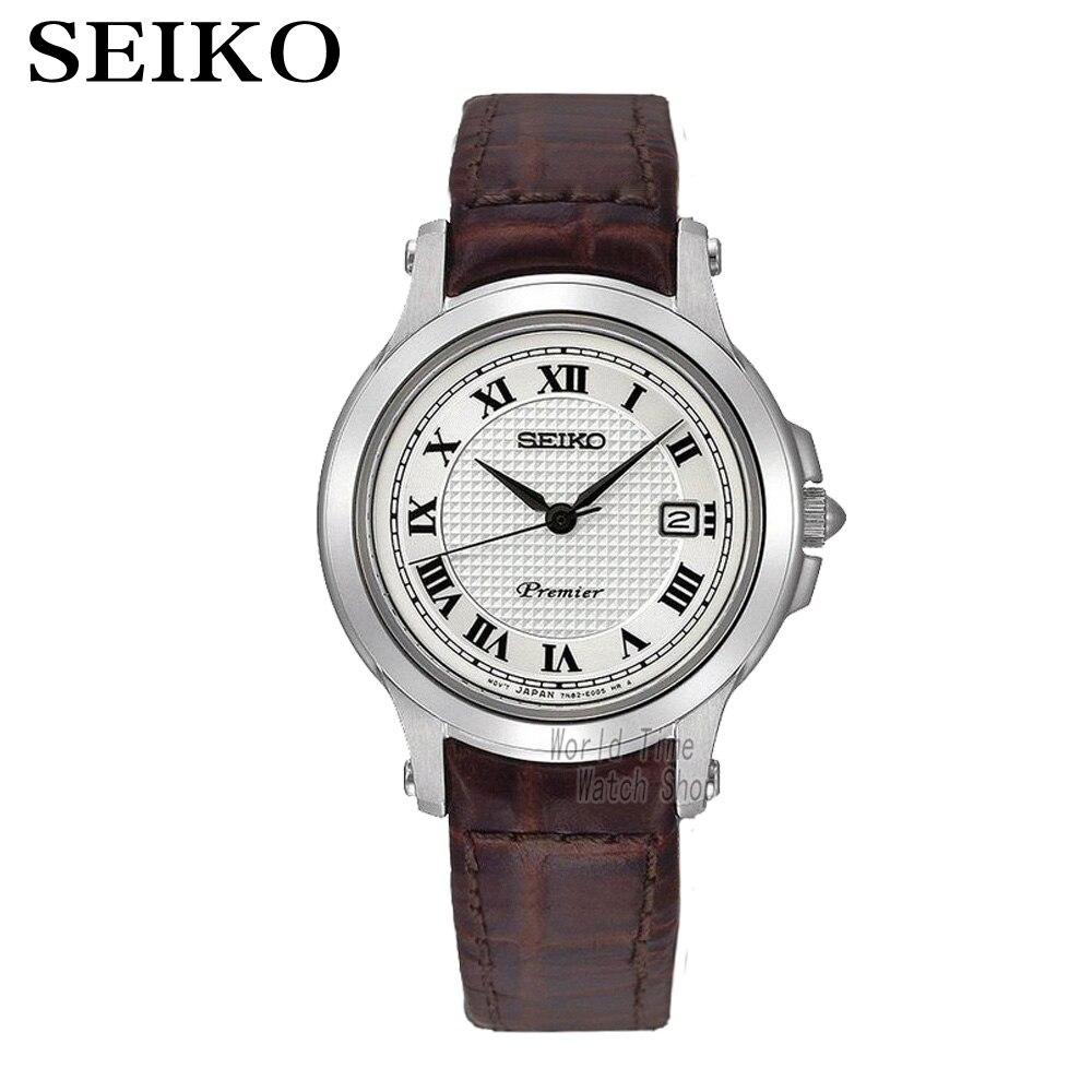 Seiko Watches Quartz Silver Dial Stainless Steel Case With Brown Leather Strap Women Watch SXDE01P2 SUR658P1 SUR659P1 SUR663P1 стоимость