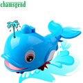 Los Bebés recién Nacidos Swim Bule Dolphin Cadena Enrollada Pequeño Animal Baño juguete Clásico Juguetes de Regalo Para Bebés y niños Levert Dropship de Octubre 21