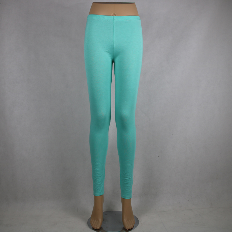 a21d46f09cc Shikoroleva 2019 Solid Color Green Leggings Xs- 7xl Women Modal Cotton  Elastic Slimming Jeggings Pants
