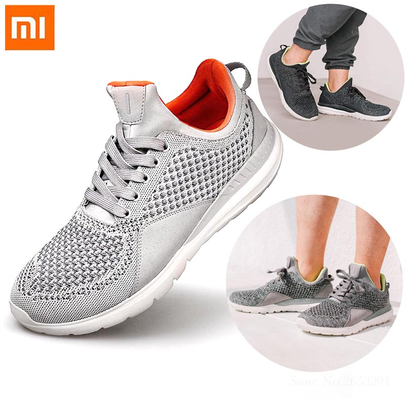 Xiaomi Mijia FREETIE Men's Light Running Shoes Breathable Wear Resistant Shock Elasticity Shoes 4 Colors Knitted Sport Sneakers-in Smart Remote Control from Consumer Electronics    1