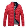 Tops de marca Nuevos hombres de la Capa de Mezcla de Algodón Acolchada Chaqueta Gruesa Ocasional Ropa Para Hombres Outwear Para Los Hombres de Invierno Más Tamaño 3XL N-5