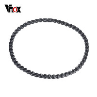 Vnox Sport Bio Magnetic Necklace High Quality Black Stainless Steel Jewelry For Father S Day