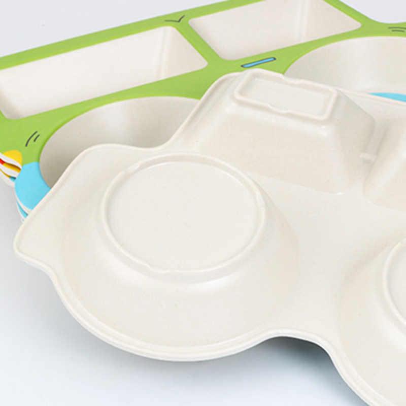 เด็กไม้ไผ่ใยอาหารเย็นการ์ตูนรูปแบบย่อยตารางแผ่นเด็กให้อาหารชุดไม่สม่ำเสมอเด็กวัยหัดเดินเด็กอุปกรณ์ BB5111