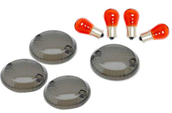 4 PCS Smoke Turn Signal Lens Lenses For 1998-2003 <font><b>Suzuki</b></font> <font><b>Intruder</b></font> 1500 / <font><b>VL1500</b></font> image