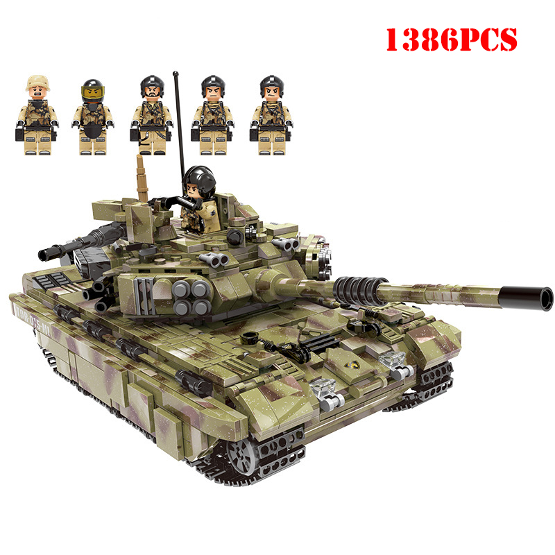 Militaire russie armée Panzer tigre réservoir blocs de construction soldat Figures compatibles Legoings WW2 arme briques enfants jouet cadeau