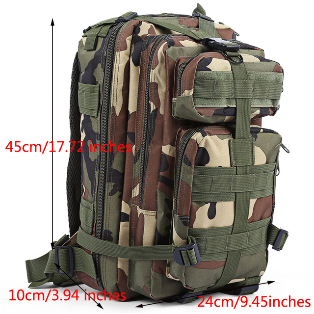 3P Military Army Tactical Outdoor Camping Men's Military Tactical Backpack Oxford For Cycling Hiking Sports Climbing Bag