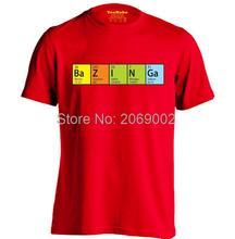 Bazinga's Periodic Table element men's t-shirt