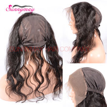 New 360 Lace Frontal Brazilian Virgin Hair Lace Frontal 13X4 Full Lace Frontal With Stretch Making For Wigs Cap Free Shipping