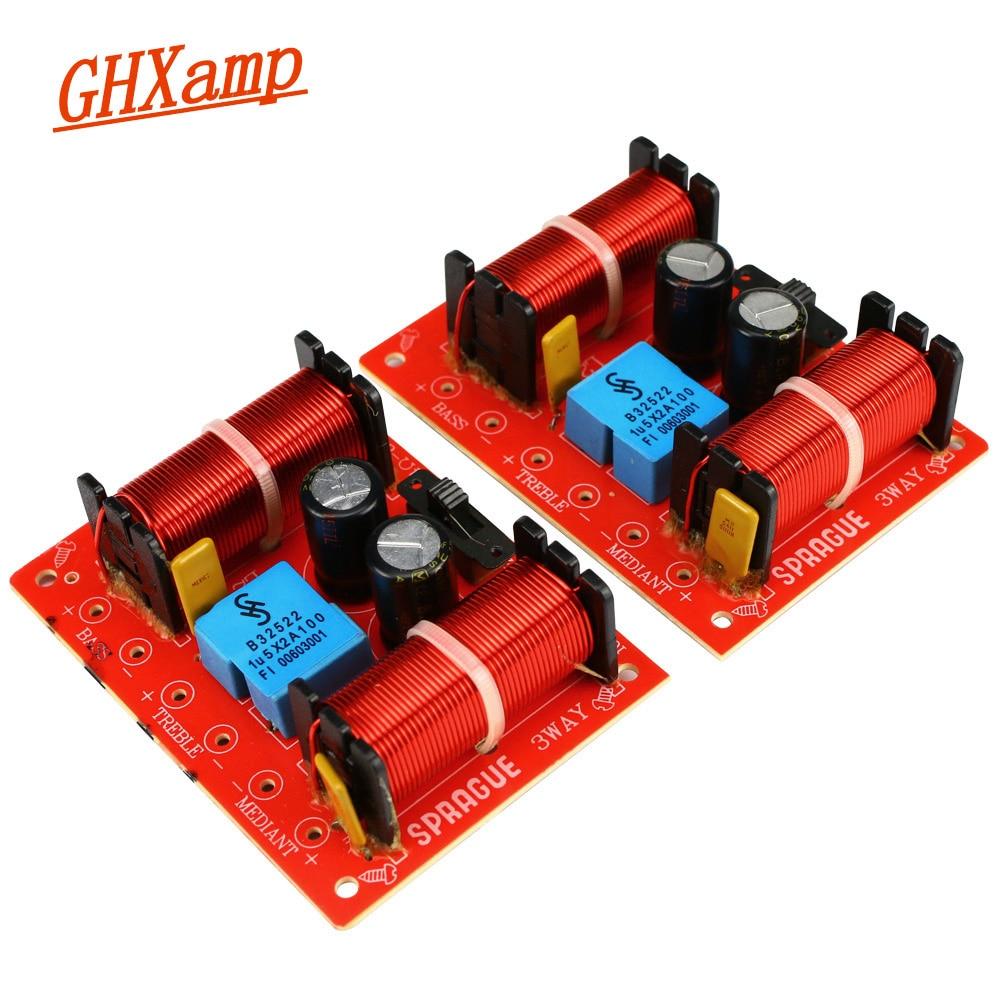 GHXAMP 150W 3 Way Crossover Speaker Bass Tweeter Midrange For 10 Inch Woofer Speaker Home Theater Filter 12db 45Hz-20KHz 2PCS