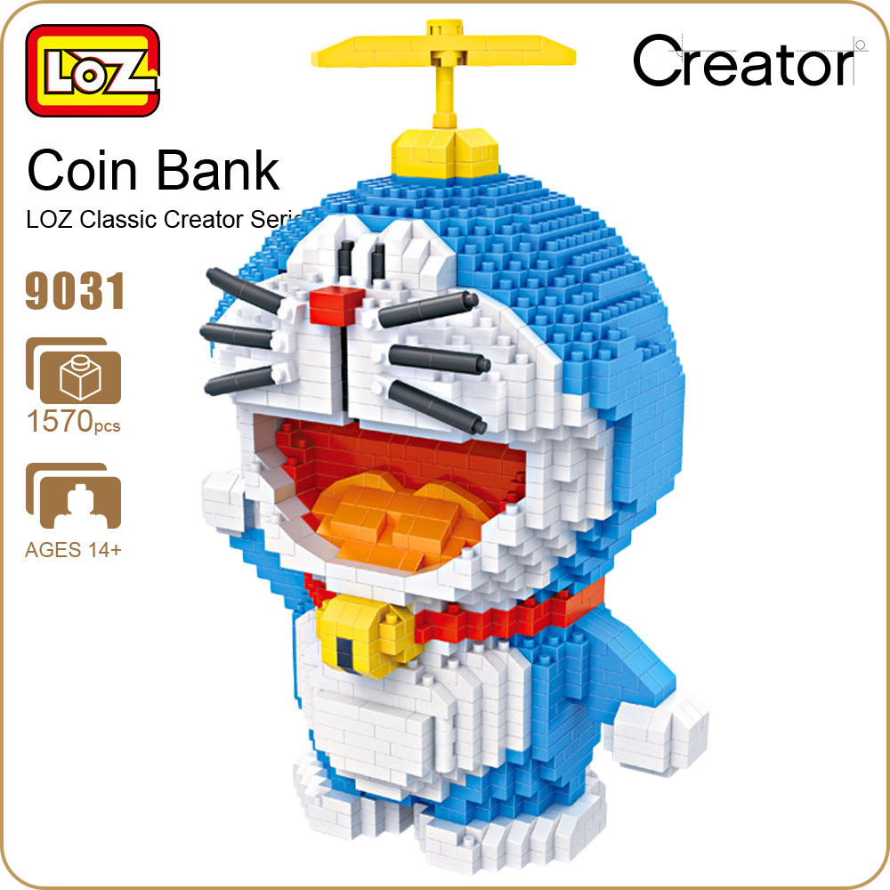 LOZ Diamond Blocks Diy Building Bricks Creator Set Coin Bank Nano Block LOZ Piggy Bank Money Japanese Anime Action Figures 9031