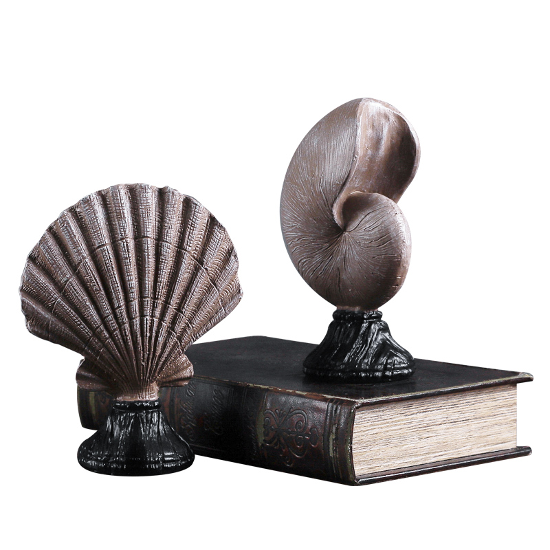 Mediterranean Style Resin River Snail Conch Crafts Home Decorating Sculpture Marine Decorations/Creative Seashell Statue R776 Statues & Sculptures     - title=
