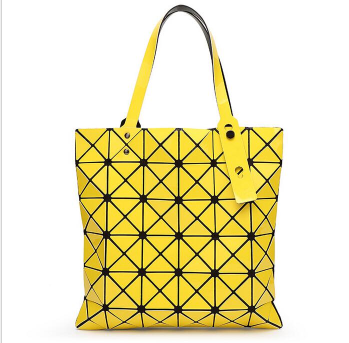 4dc128edb8a8 Fold Over Geometric Zipper bag Women Handbags Casual Tote Japan Famous  Brand Bao Bao Issey Miyake Good Quality Style Bucket Bags-in Top-Handle Bags  from ...