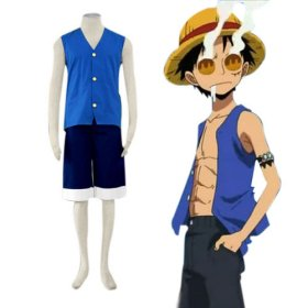 One Piece Luffy Party Cosplay Costume Halloween Costumes