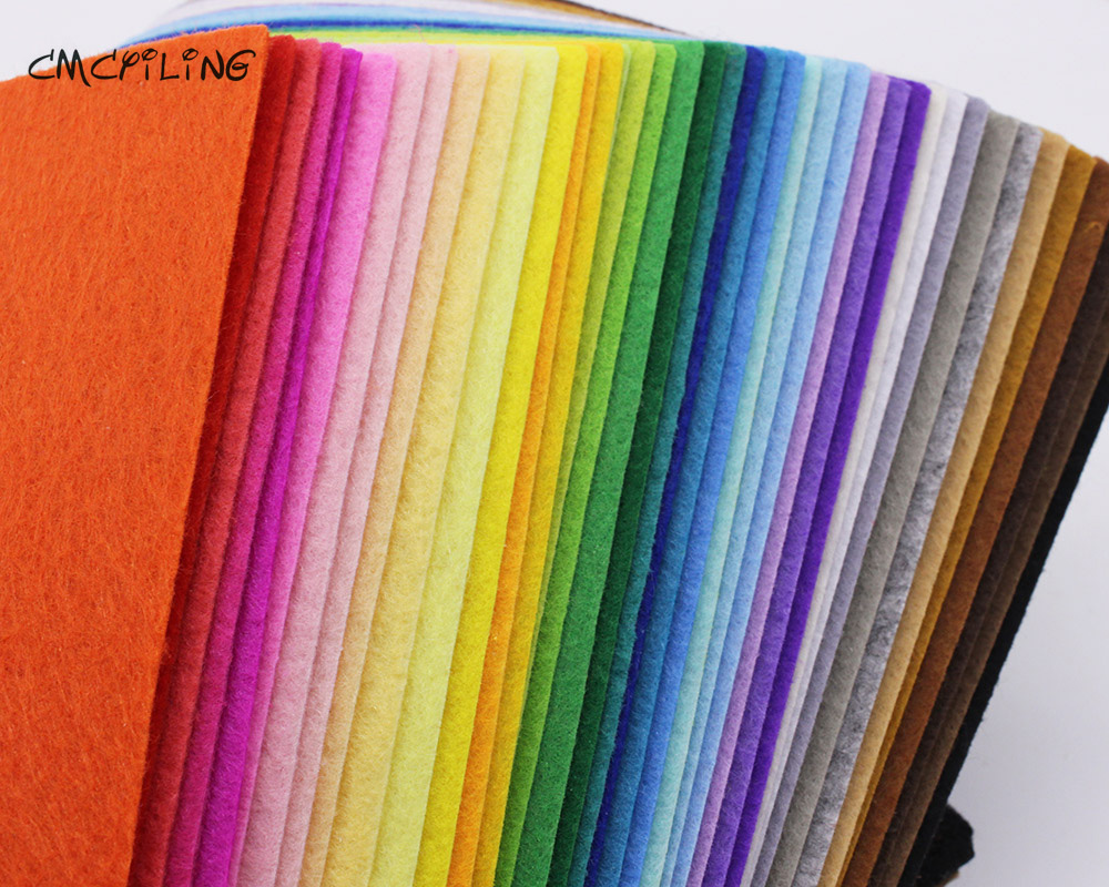 CMCYILING 40 Mix Colors 1mm Hard Felt Sheets Felt Craft For Felt DIY Craft Arts,Crafts & Sewing Scrapbook Hometextile