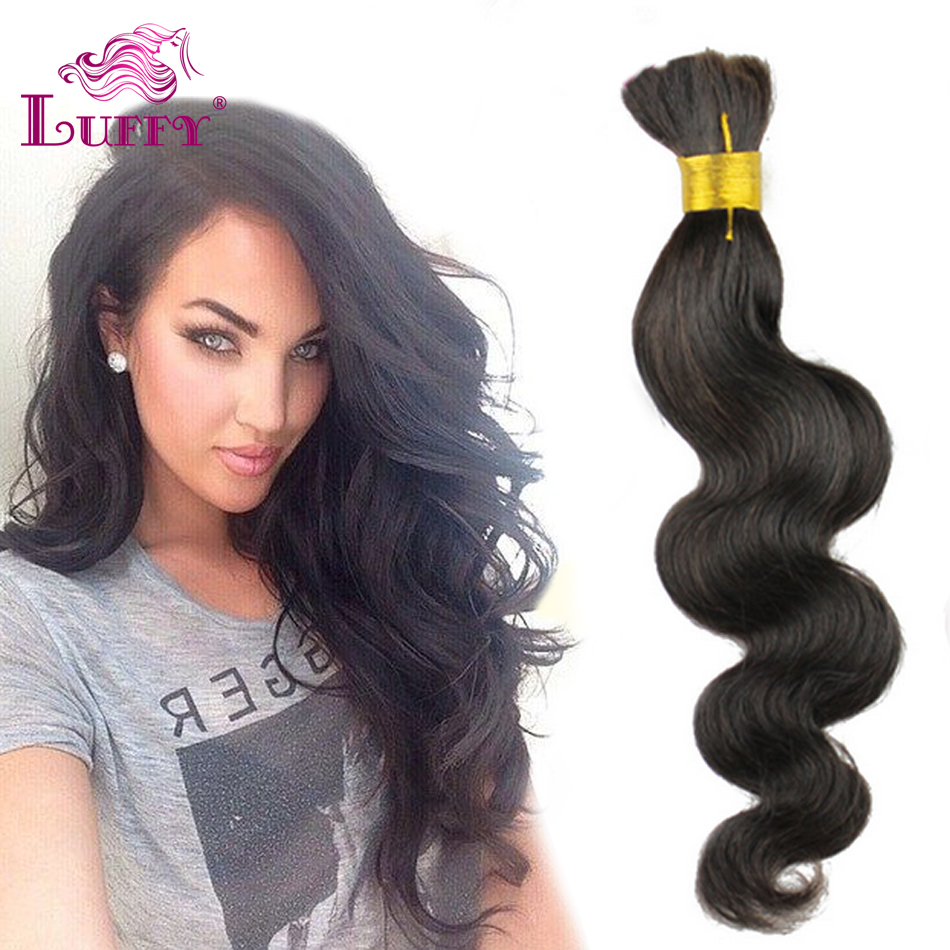 Luffy Cheap 6A Brazilian Human Hair Bulk For Braiding 10-26 Body Wave Bulk Hair Soft Virgin Hair No Weft Attachment Braids Hair