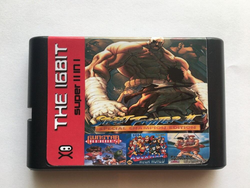 Super Game 11 in 1 16 Bit Game Cart Newest Game Cartridge For Sega Mega Drive / Genesis System