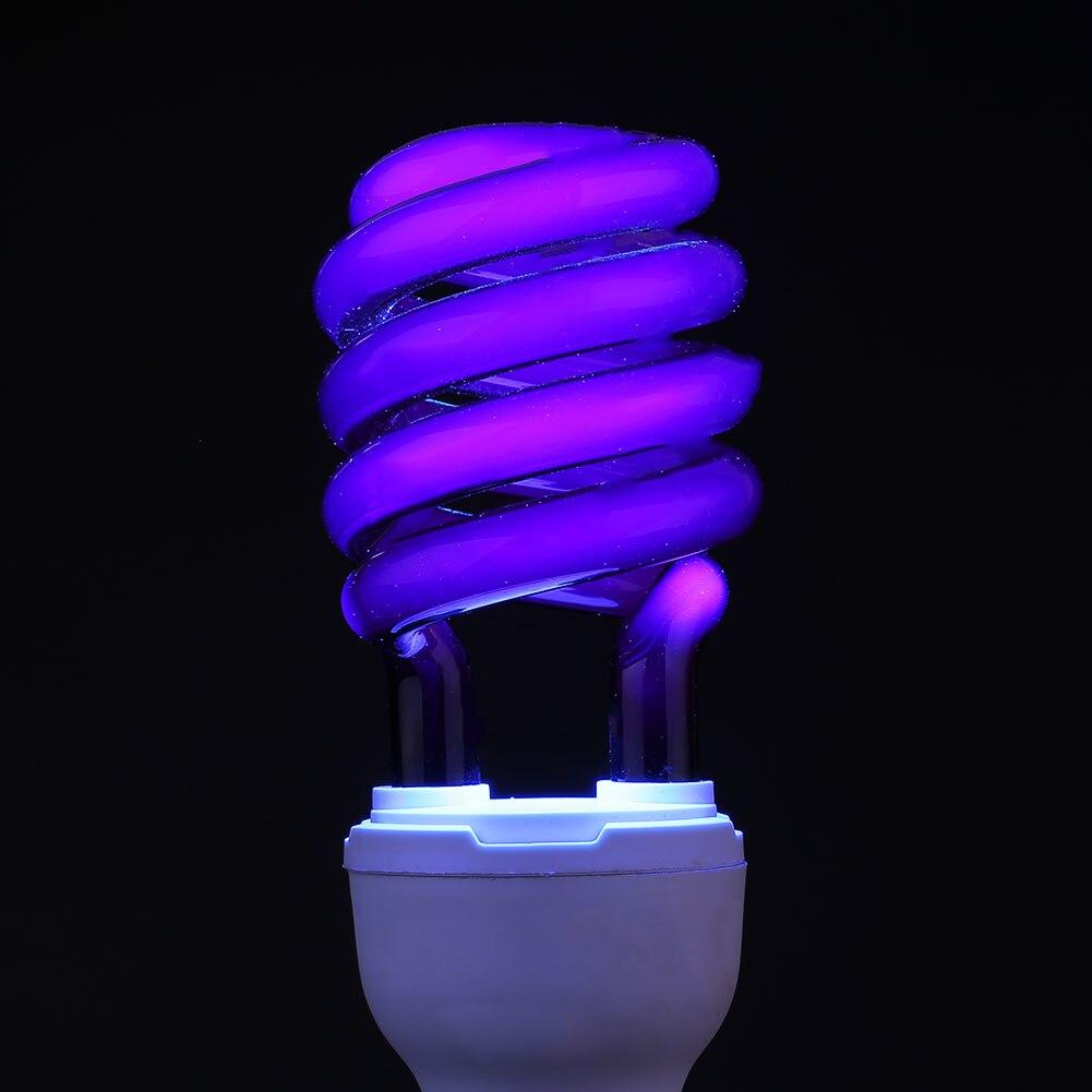 E27 света Флуоресцентные ультрафиолетовая лампочка лампы люминесцентные УФ-свет стерилизации насекомых моли-убийство проверьте бумаги украшение сцены