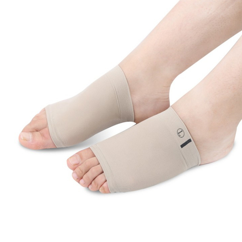 1Pair Comfortable Arch Support Sleeve Arch Socks Cushion Orthopedic Pad Foot Massager Posture Correction For Heels Shoe Insole