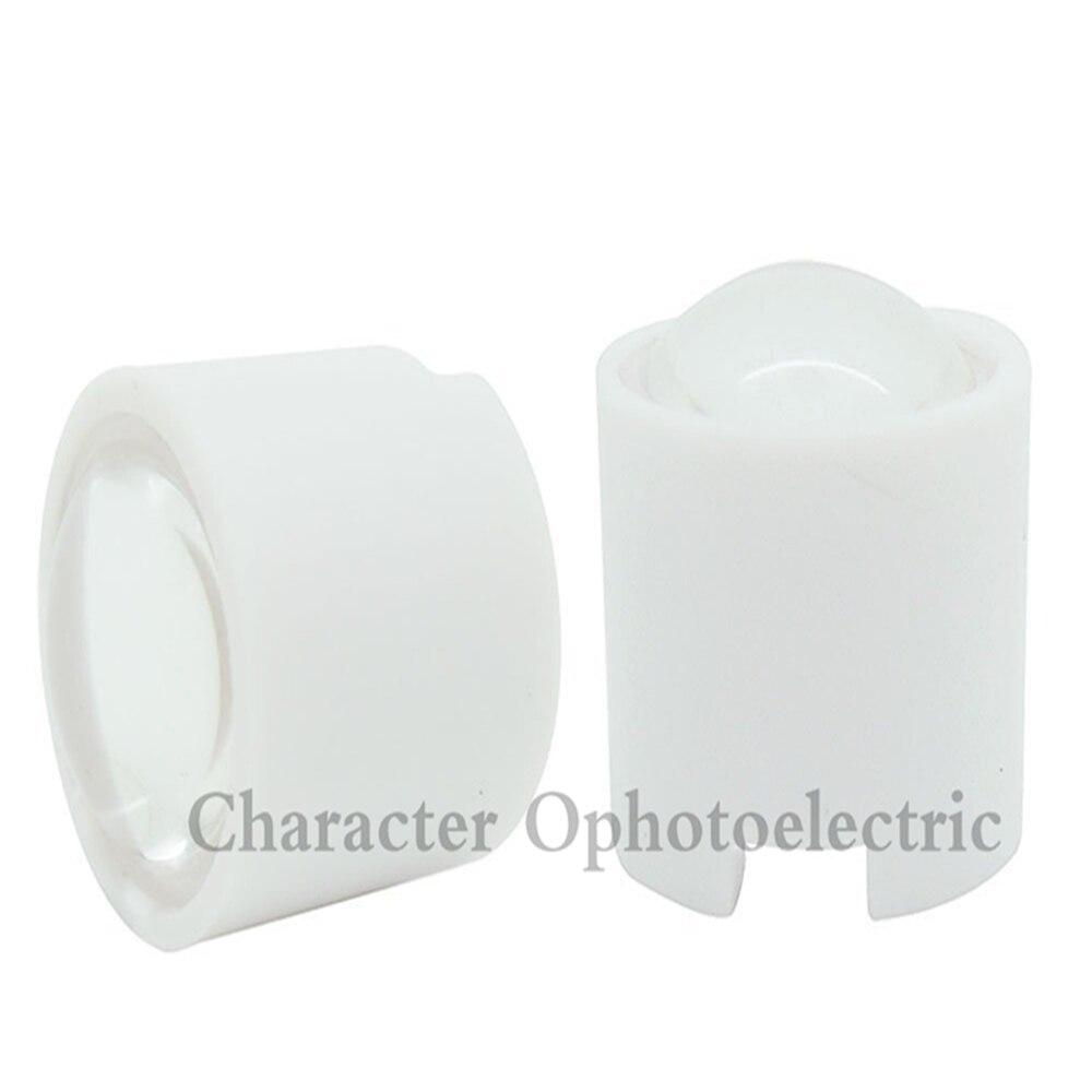 10pcs IR 1W 3W High Power LED lens 14.5mm 16mm 10degree 60degree 90degree len with black holder For CCTV DIY