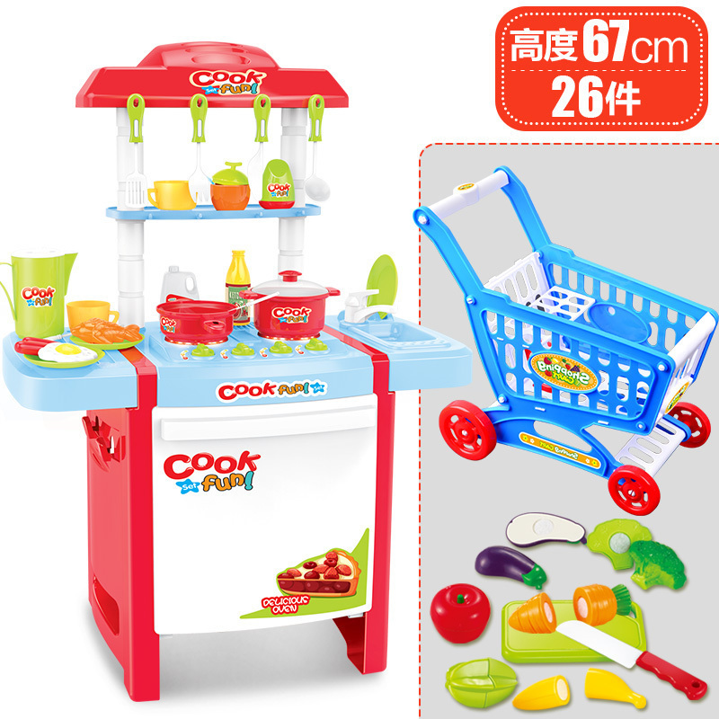 Children 39 S Kitchen Toys Child Happy Birthday Cake Toy Baby Simulation Kitchen Fruit Crochet