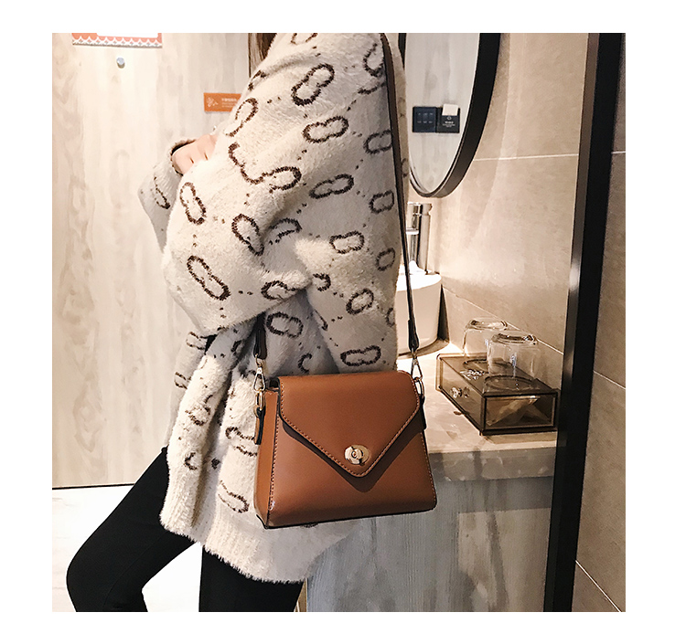European Fashion Retro Ladies Square bag 2018 New High quality PU Leather Women's Designer Handbag Lock Shoulder Messenger Bags 18