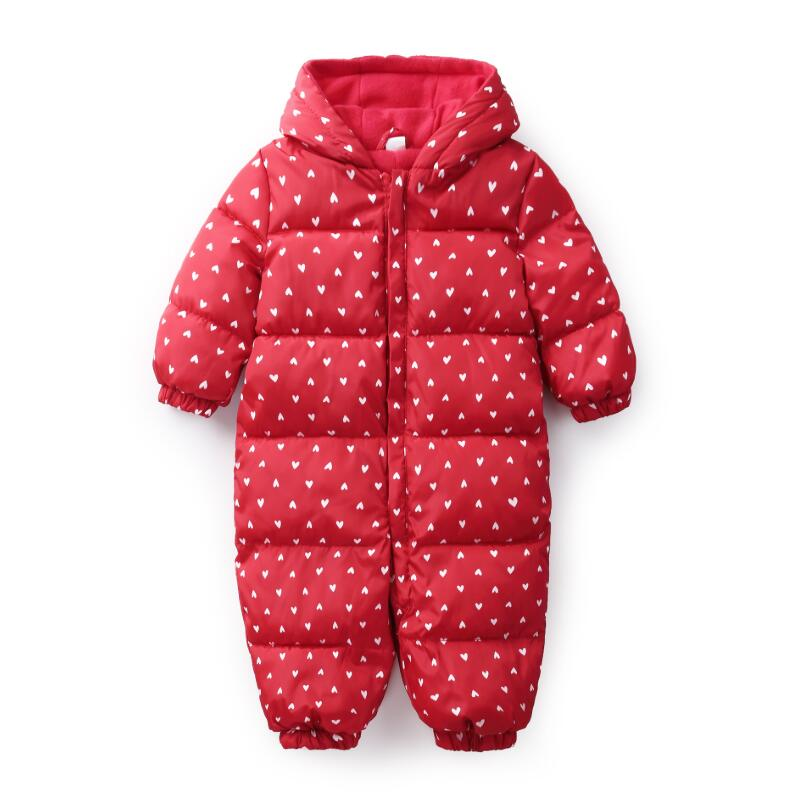 83bc4f34fe08 2018 Spring Winter Warm Baby Girls Boys Snowsuit Cotton Rompers ...