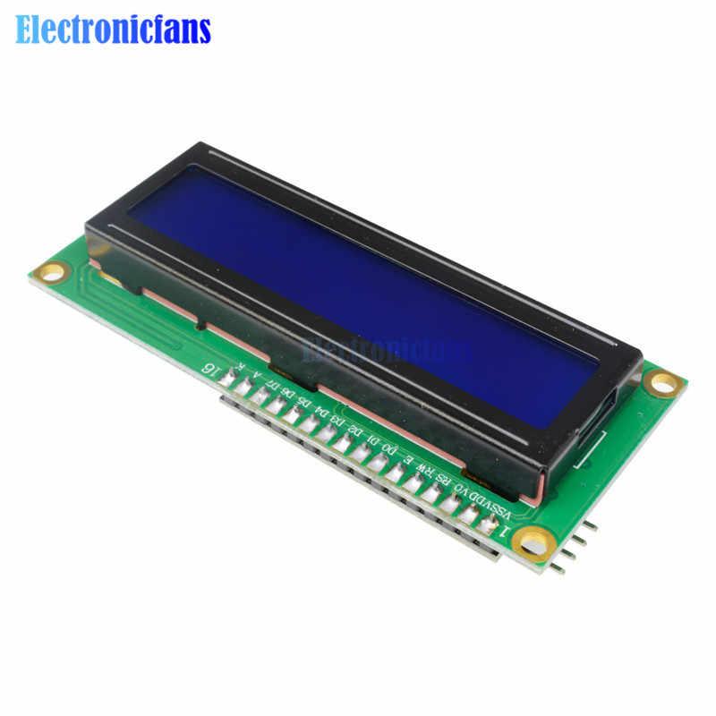 Affichage bleu IIC/I2C/TWI/SPI Interface série 1602 16X2 caractère LCD rétro-éclairage Module LCD-1602 5V pour Arduino