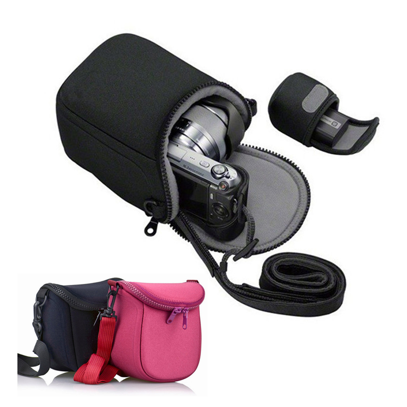 portable Camera Case Bag pouch for Olympus E-M10 EM10II EM10III EM10 iii E-M5 II EM5 EPL6 EPL7 E-PL8 EPL9 EPL5 EP5 with strap