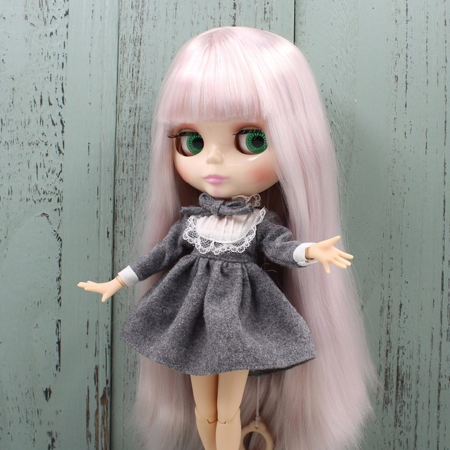 ICY Neo Blythe Doll Grey Pink Hair Jointed Body