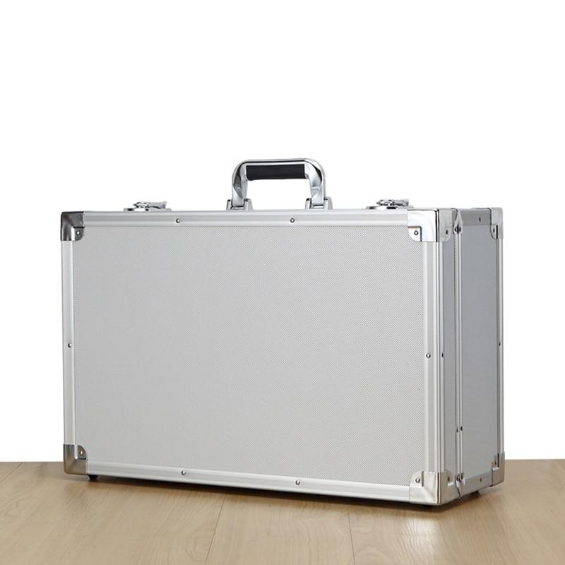 550x350x200mm Portable Tool Box Aluminium Alloy Home Storage Box Large Space Tool Box Thicken Storage Case